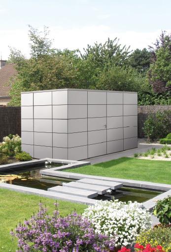 abris de jardin contemporains en stratifi chez lance. Black Bedroom Furniture Sets. Home Design Ideas
